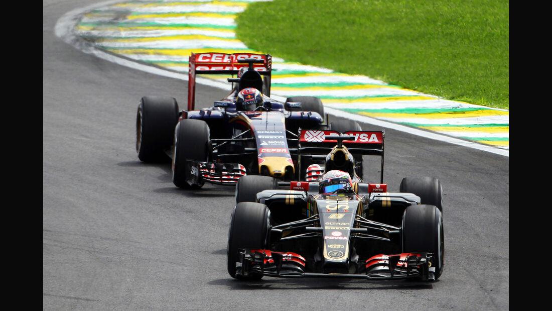 Romain Grosjean - Max Verstappen - Formel 1 - GP Brasilien- 15. November 2015