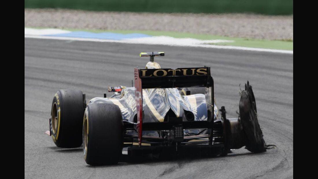 Romain Grosjean Unfall - Formel 1 - GP Deutschland - 22. Juli 2012