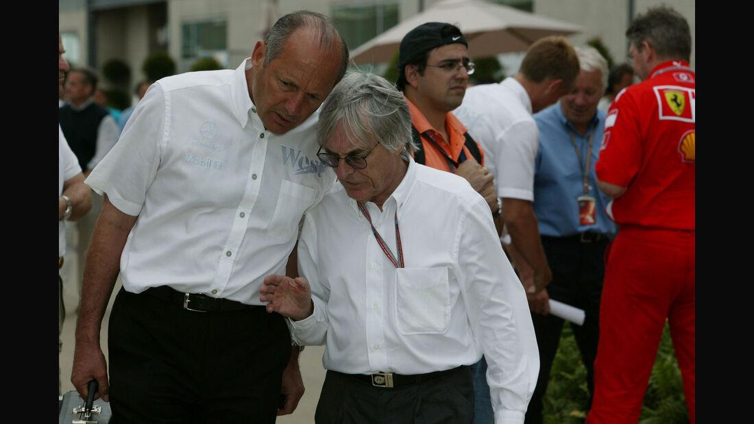 Ron Dennis - Bernie Ecclestone - GP USA 2005 - Indianapolis