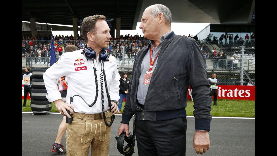 Ron Dennis - Christin Horner - Formel 1 - GP Österreich - 3. Juli 2016