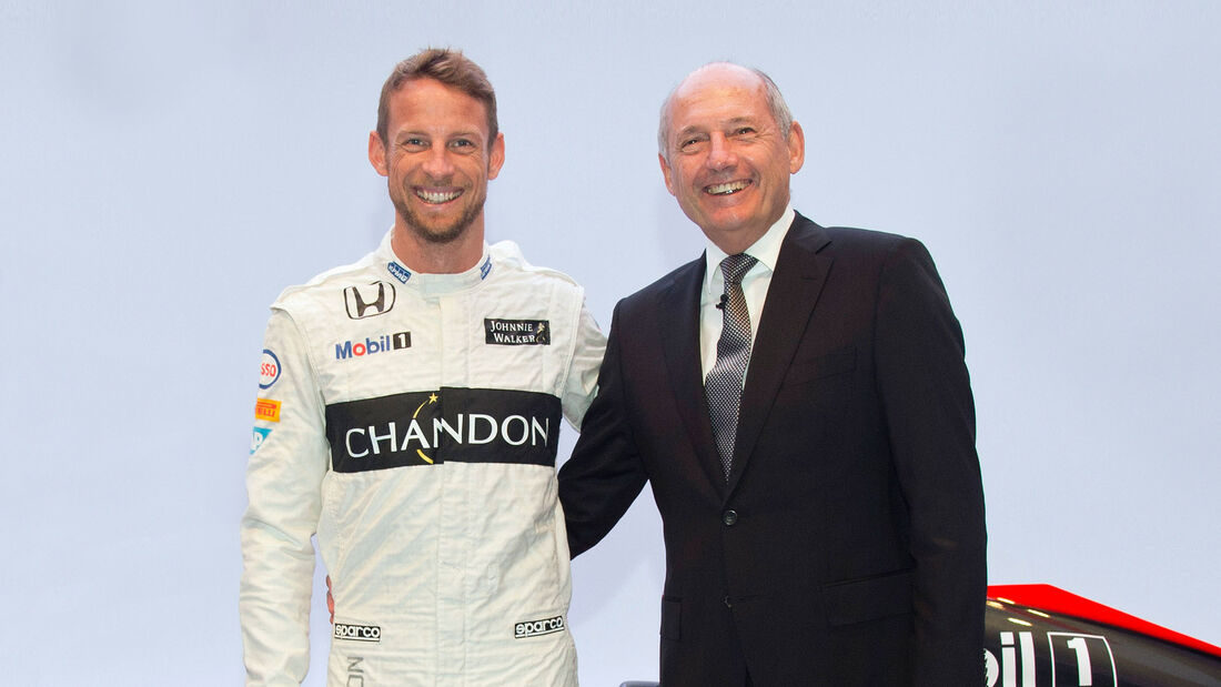 Ron Dennis & Jenson Button - McLaren 2015