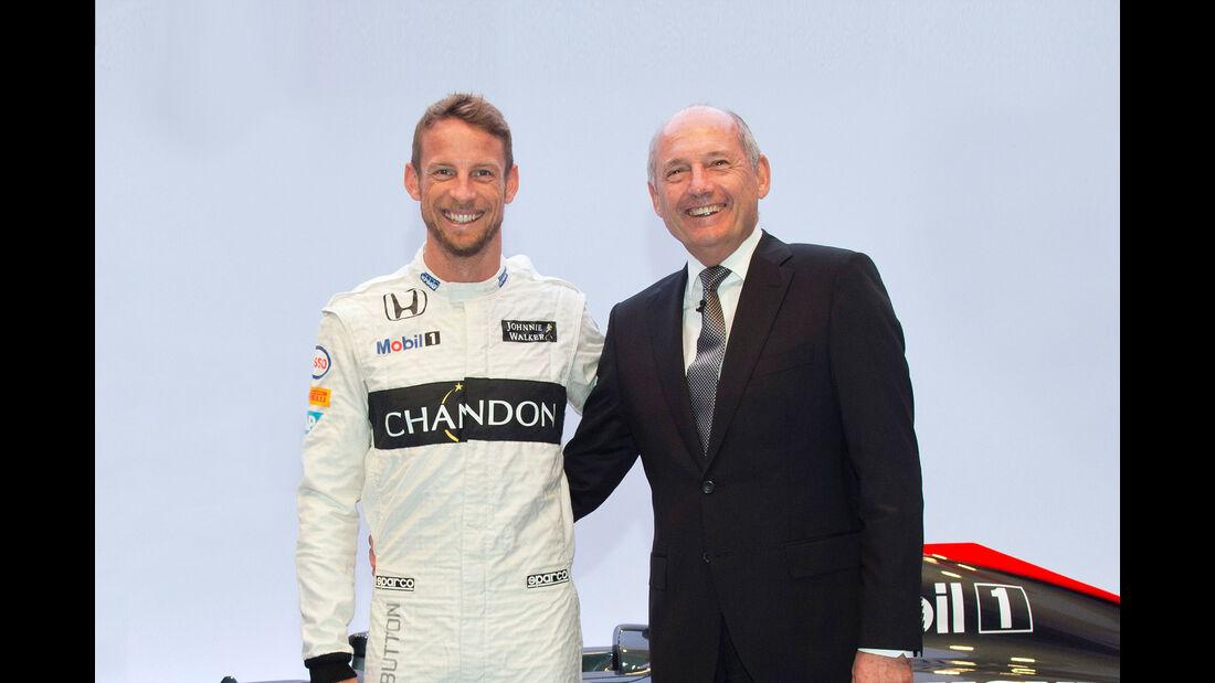 Ron Dennis & Jenson Button - McLaren 2015