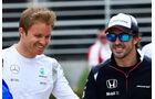 Rosberg & Alonso - Formel 1 - GP Bahrain - 31. März 2016