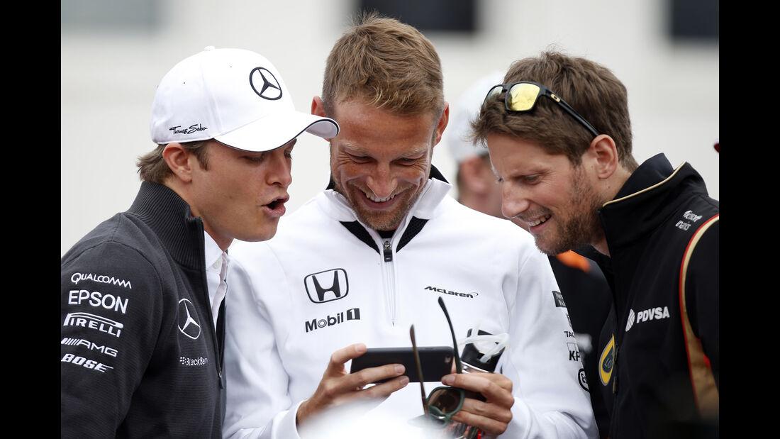 Rosberg, Button & Grosjean - GP Ungarn 2015