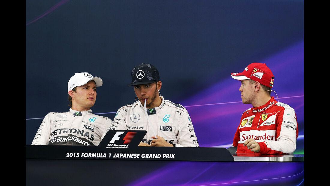 Rosberg, Hamilto  & Vettel - GP Japan 2015