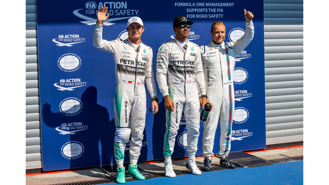 Rosberg, Hamilton & Bottas - Formel 1 - GP Belgien - Spa-Francorchamps - 22. August 2015