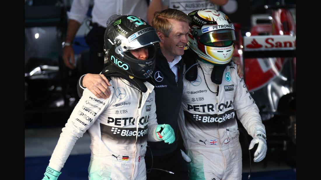 Rosberg & Hamilton - Formel 1 - GP Australien 2015