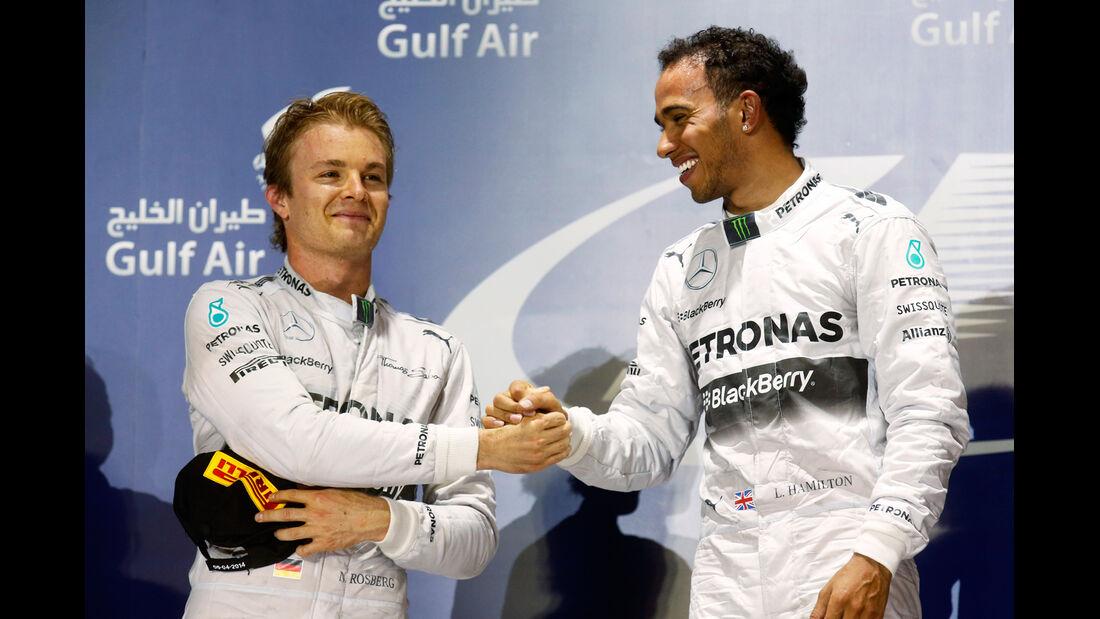 Rosberg & Hamilton - Formel 1 - GP Bahrain 2014