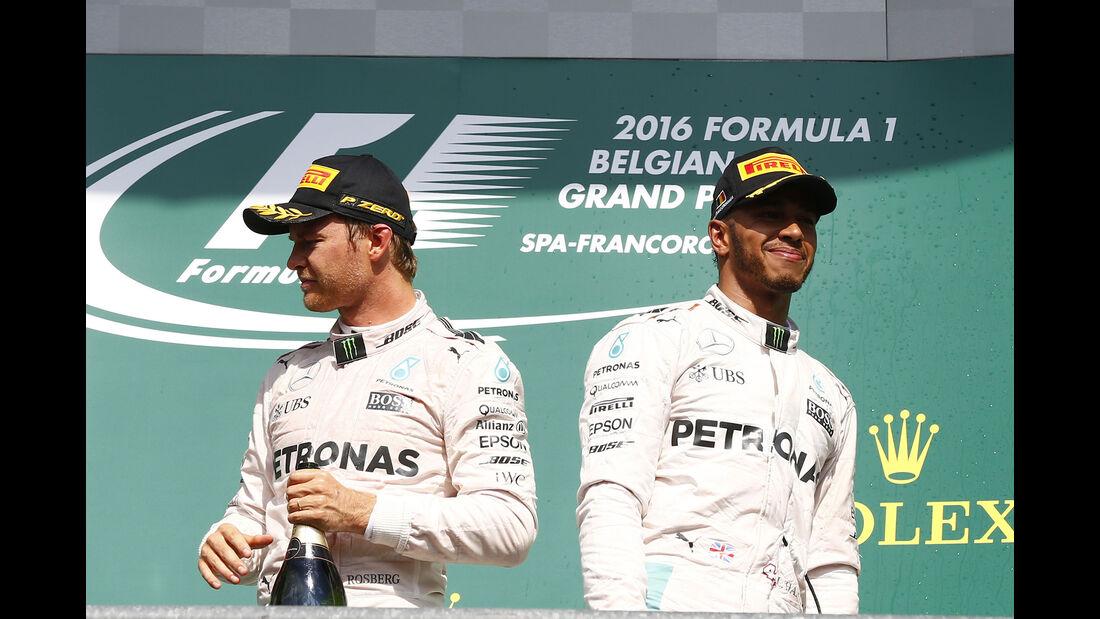 Rosberg & Hamilton - Formel 1 - GP Belgien 2016