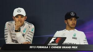 Rosberg & Hamilton - Formel 1 - GP China 2015
