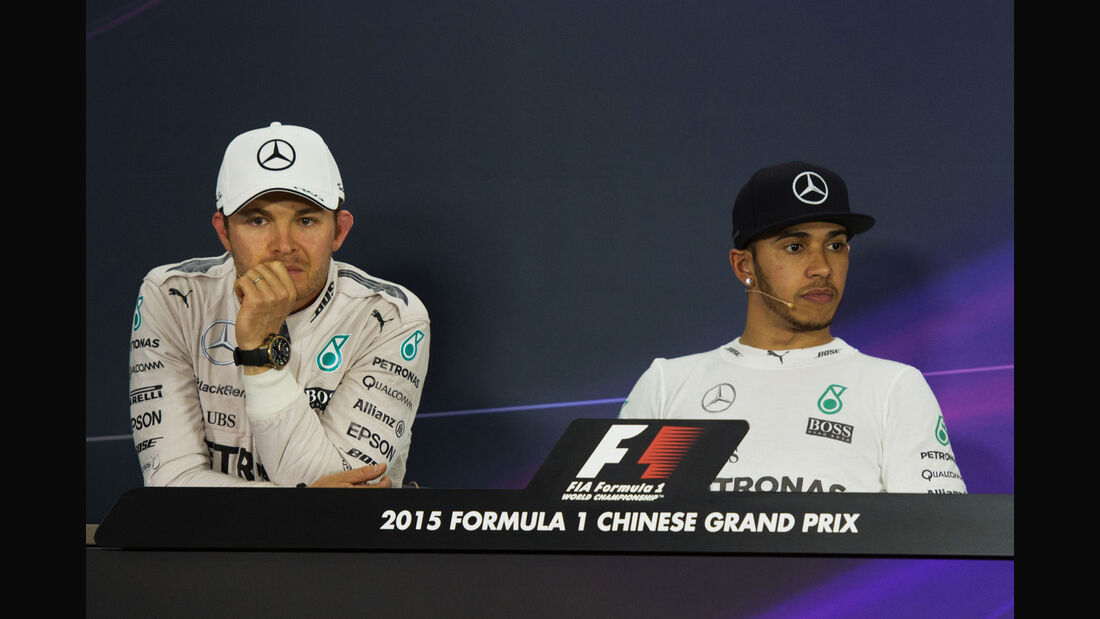 Rosberg & Hamilton - Formel 1 - GP China 2015