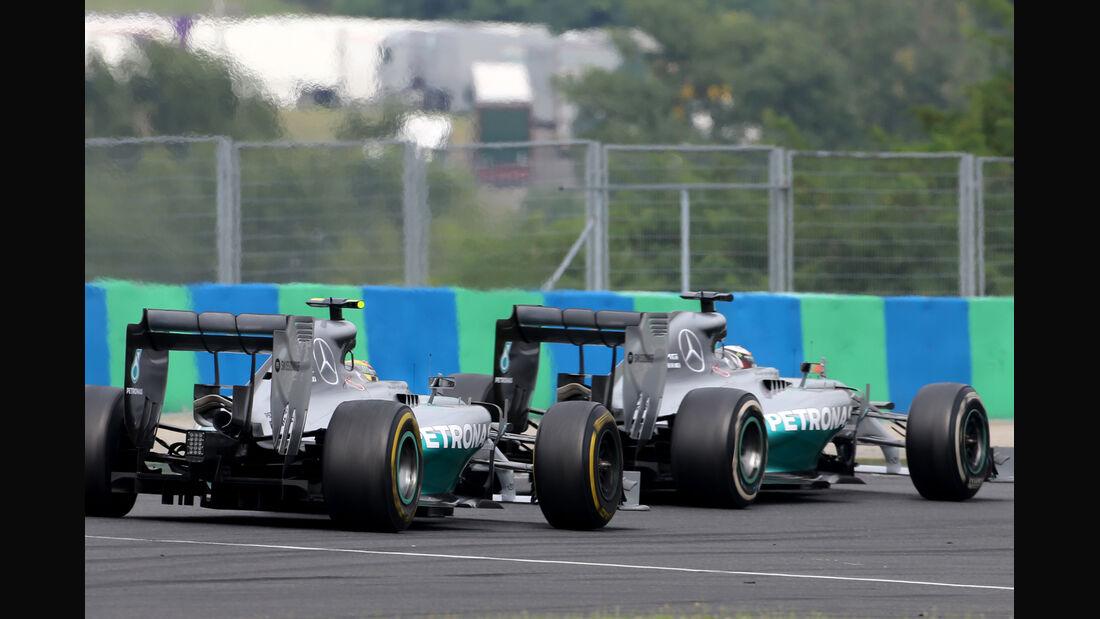 Rosberg & Hamilton - Formel 1 - GP Ungarn - 27. Juli 2014