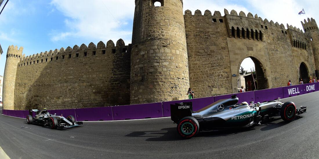 Rosberg & Hamilton - GP Aserbaidschan - Formel 1 - 2016