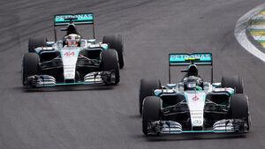 Rosberg & Hamilton - GP Brasilien 2015