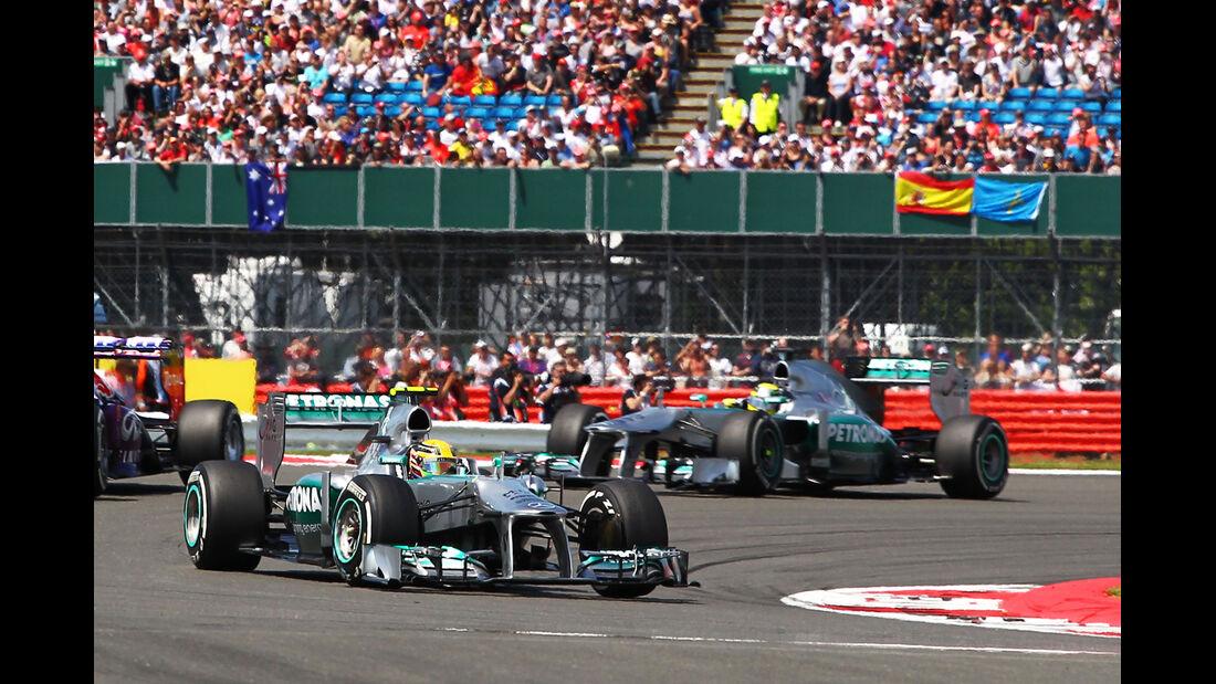 Rosberg & Hamilton - GP England 2013