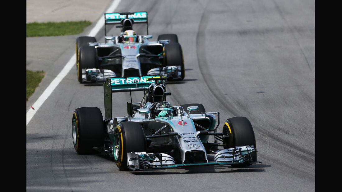 Rosberg & Hamilton - GP Kanada 2014