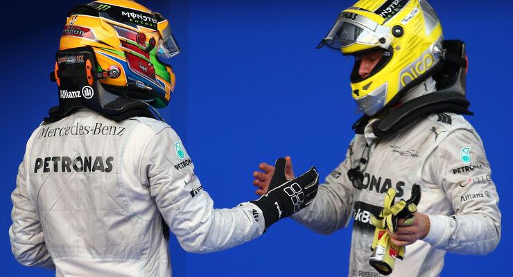 Rosberg Hamilton GP Malaysia 2013