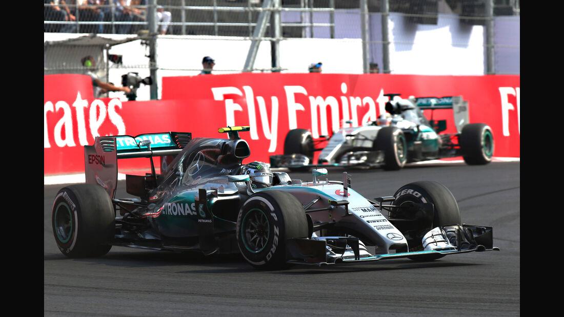 Rosberg & Hamilton - GP Mexiko 2015