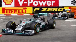 Rosberg & Hamilton - GP Monaco 2014