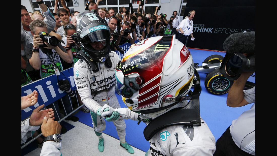 Rosberg & Hamilton - GP Österreich 2014