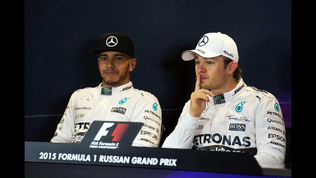 Rosberg - Hamilton - GP Russland - Qualifying - Samstag - 10.10.2015