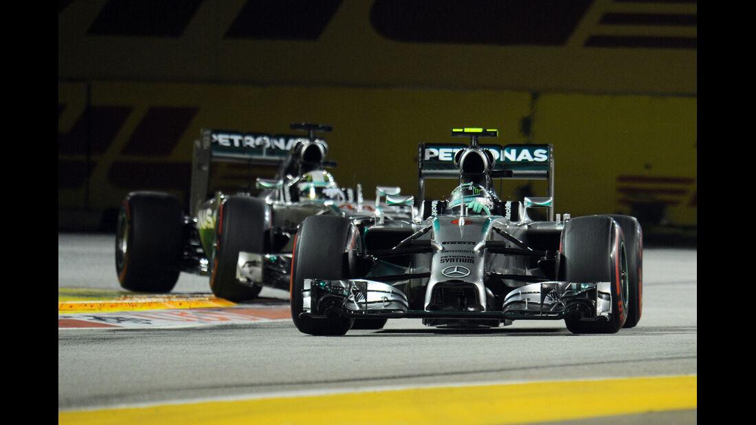 Rosberg & Hamilton - GP Singapur 2014