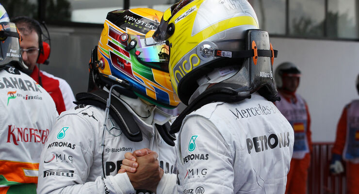 Rosberg Hamilton GP Spanien 2013