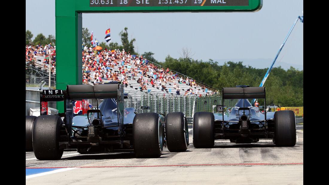 Rosberg & Hamilton - GP Ungarn 2015