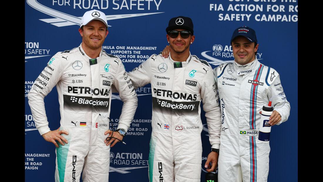 Rosberg, Hamilton & Massa - Formel 1 - GP Australien - Melbourne - 14. März 2015