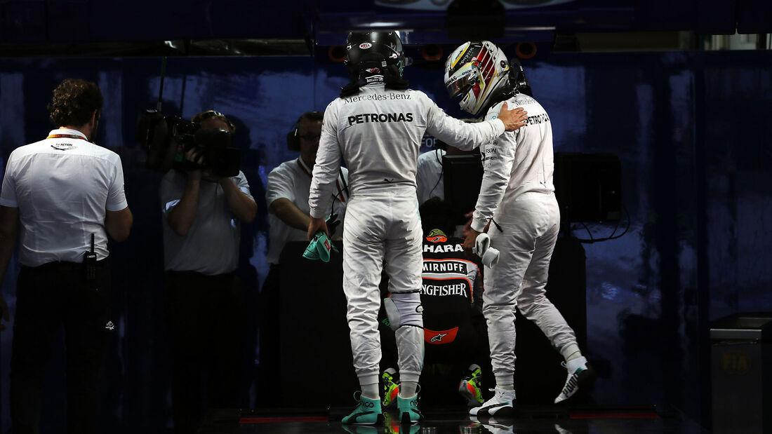 Rosberg - Hamilton - Mercedes - Formel 1 - GP Japan - Suzuka - Qualifying - Samstag - 8.10.2016