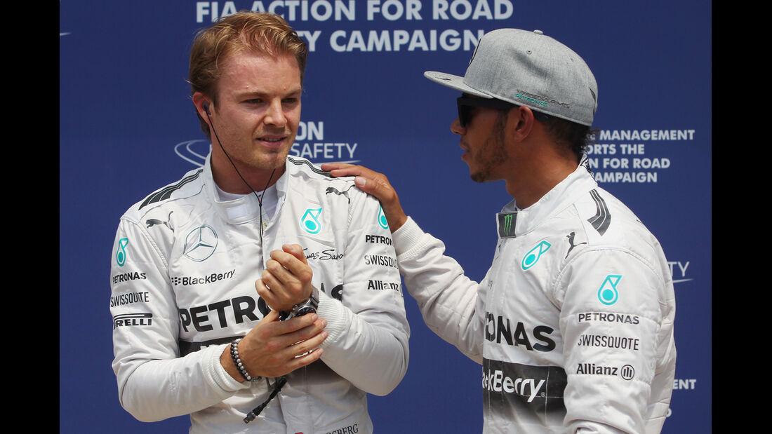 Rosberg & Hamilton - Mercedes - Formel 1 - GP Kanada - Montreal - 7. Juni 2014