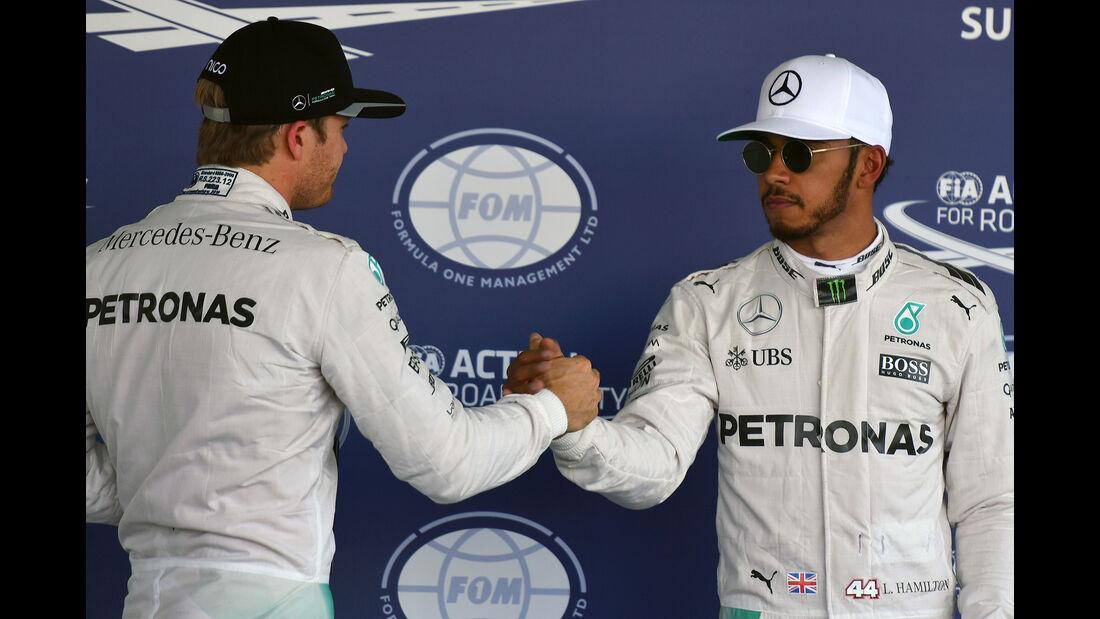 Rosberg & Hamilton - Mercedes - Formel 1 - GP Mexiko - 29. Oktober 2016