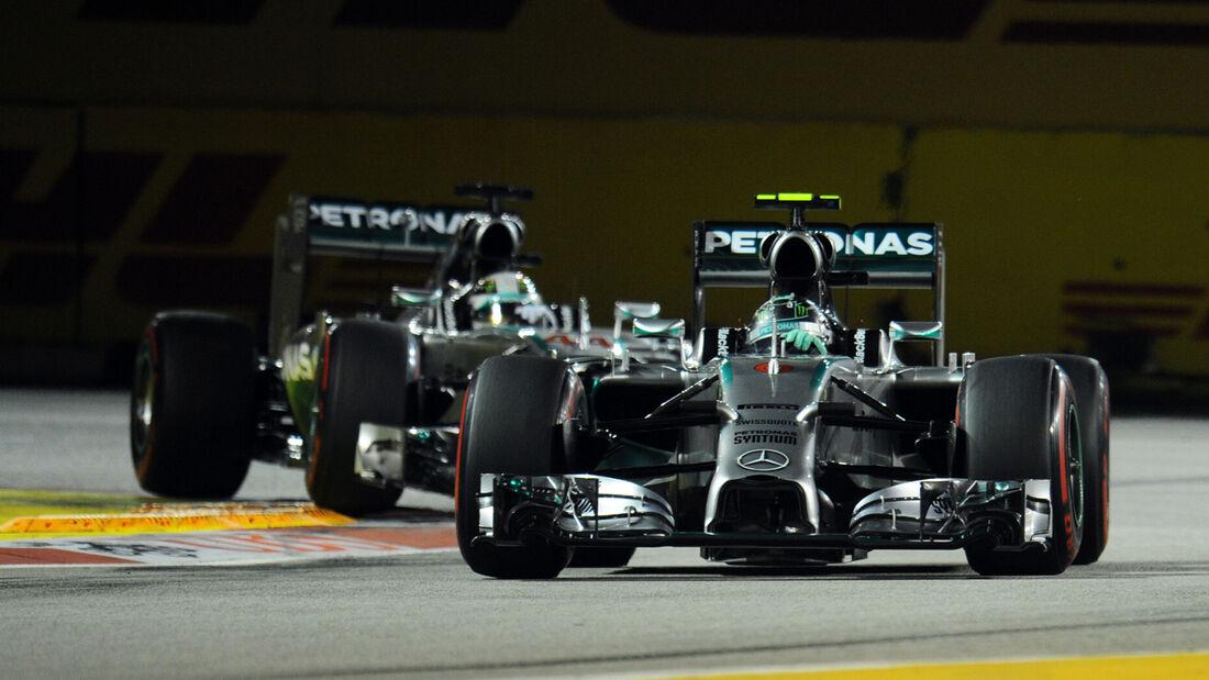 Rosberg & Hamilton - Mercedes - Formel 1 - GP Singapur - 20. September 2014