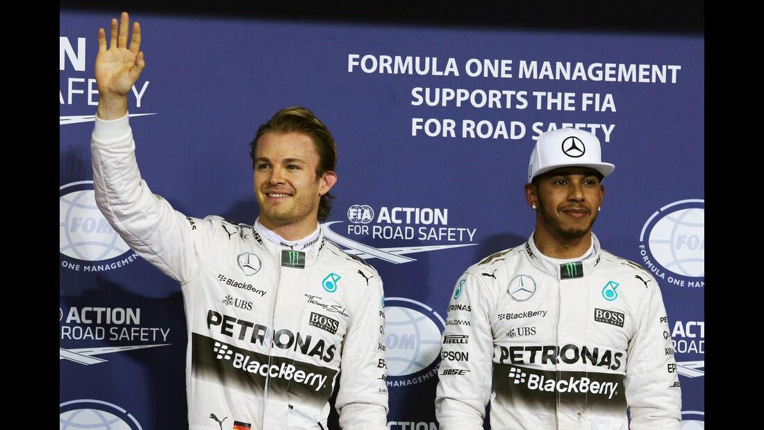 Rosberg & Hamilton - Mercedes - GP Abu Dhabi - 28. November 2015