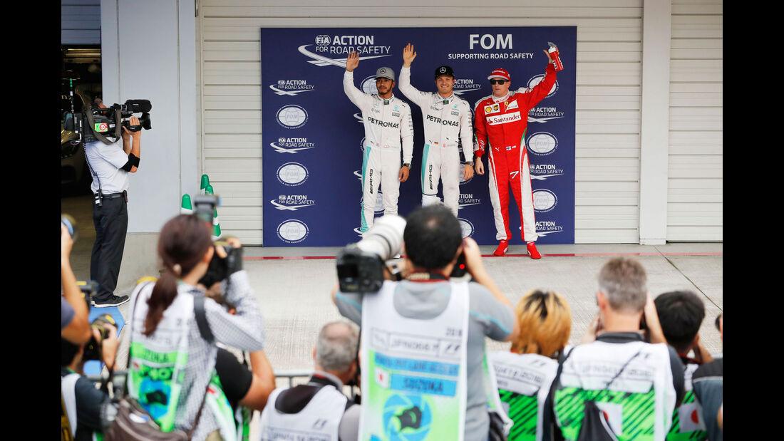 Rosberg - Hamilton - Räikkönen - Formel 1 - GP Japan - Suzuka - Qualifying - Samstag - 8.10.2016