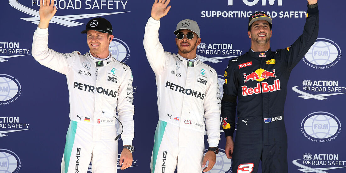 Rosberg, Hamilton & Ricciardo - Formel 1 - Austin - GP USA - 22. Oktober 2016