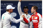 Rosberg, Hamilton & Vettel - Formel 1 - GP China - Shanghai - 11. April 2015