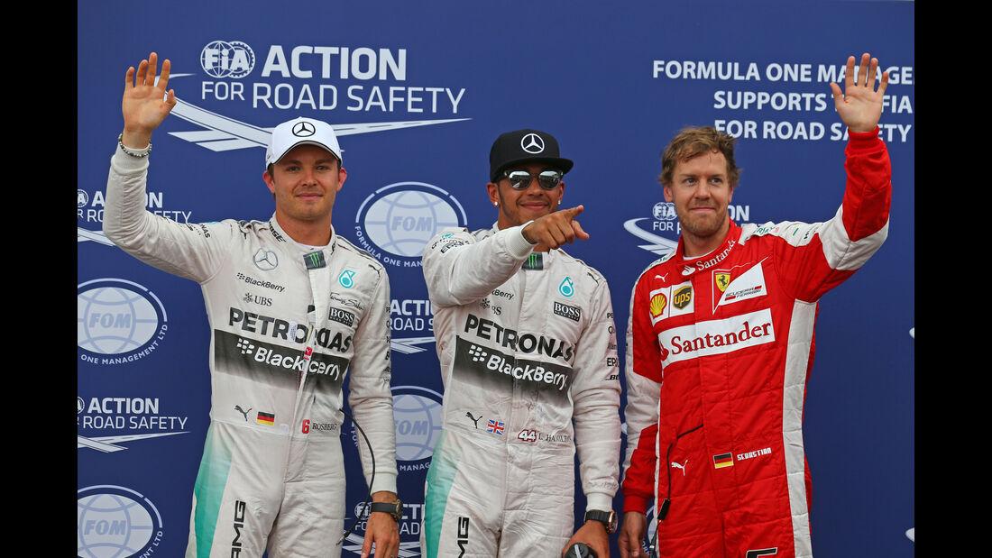Rosberg, Hamilton & Vettel - GP Monaco 2015