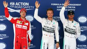 Rosberg - Hamilton - Vettel - GP Spanien 2015 - Qualifying - Samstag - 9.5.2015