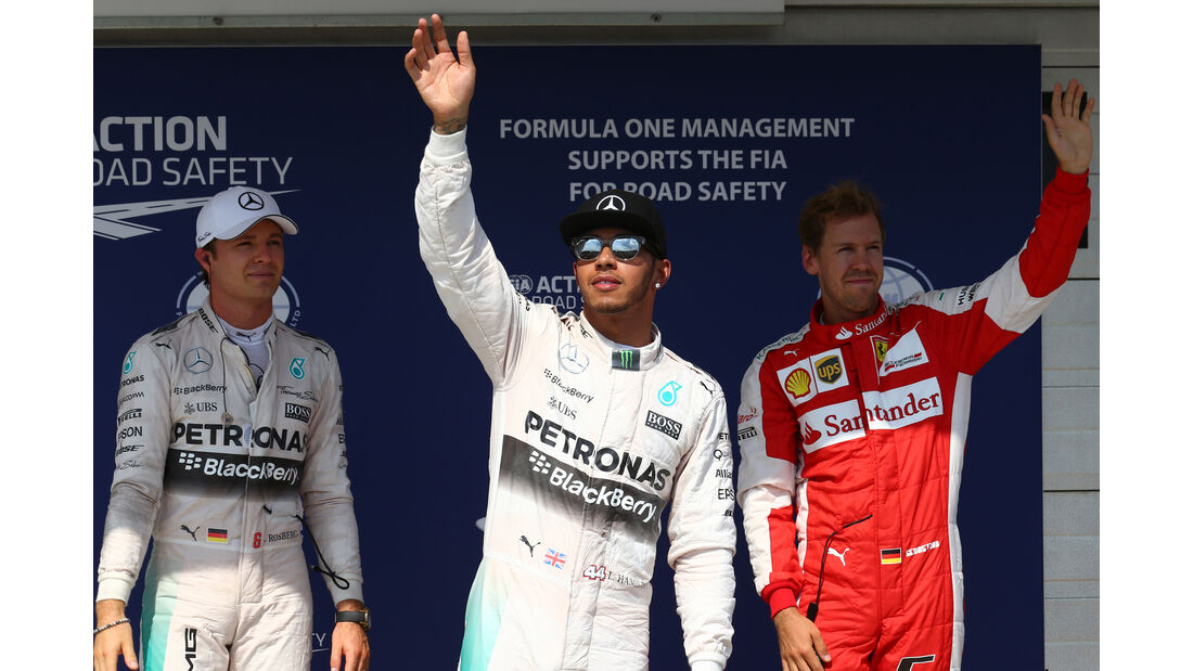 Rosberg, Hamilton & Vettel - GP Ungarn 2015