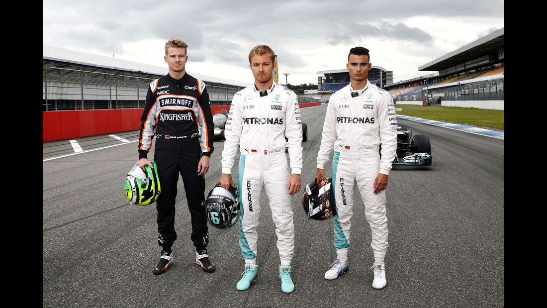 Rosberg, Hülkenberg & Wehrlein - Mercedes Track Day - Hockenheim - 28. Juni 2016