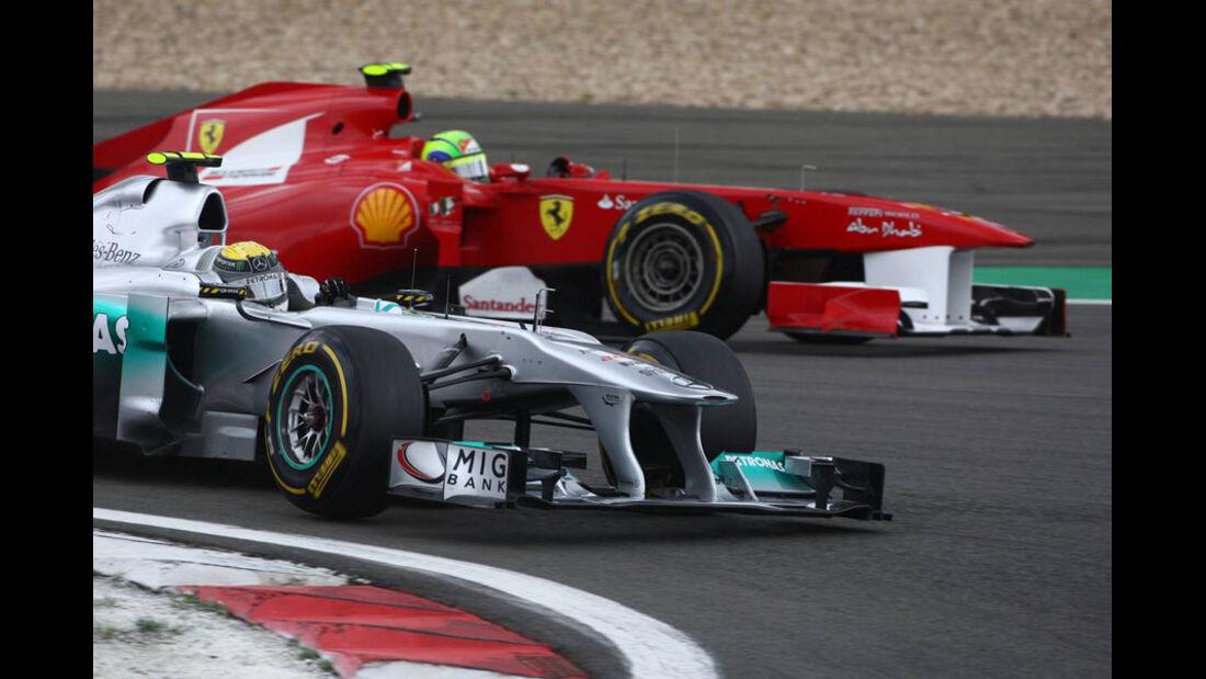 Rosberg Massa GP Deutschland 2011