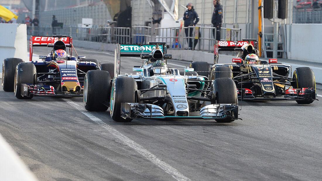 Rosberg - Mercedes - Barcelona Test 2 - 2015