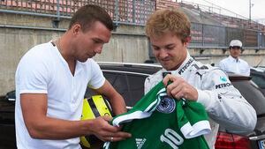 Rosberg & Podolski - Mercedes - Nordschleifen-Aktion - GP Deutschland 2013