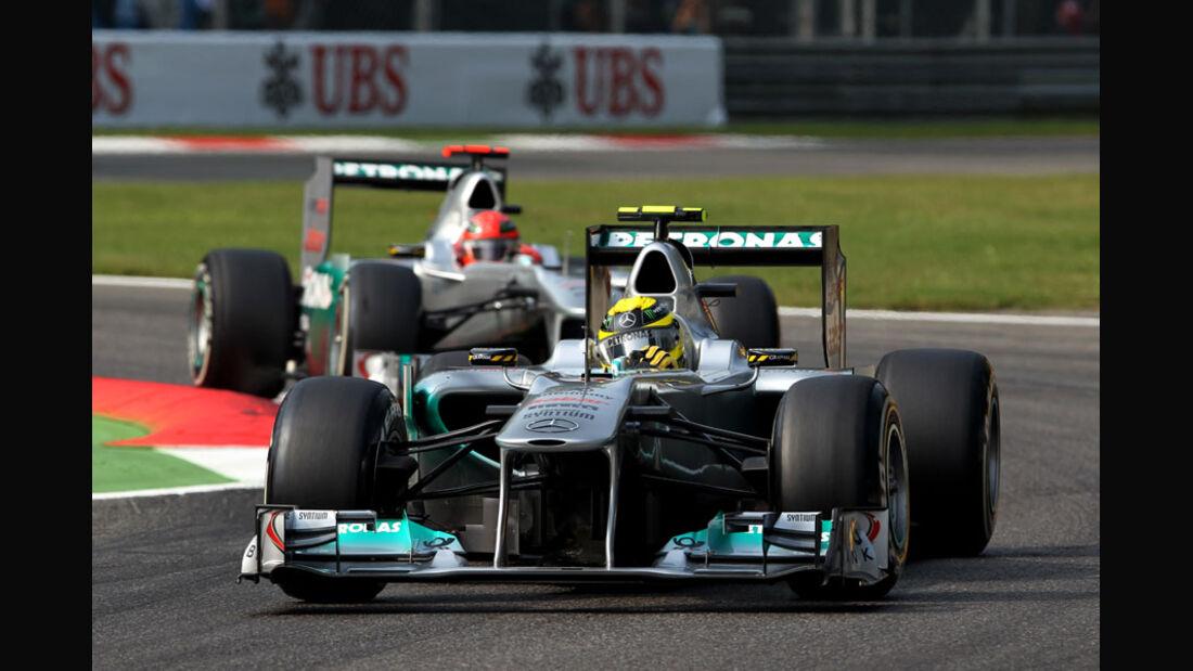 Rosberg & Schumacher - GP Italien - Monza - 10. September 2011