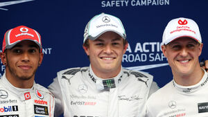 Rosberg, Schumacher & Hamilton - GP China 2012 - Qualifikation