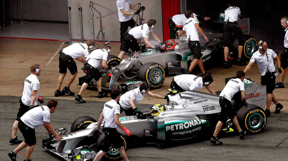 Rosberg & Schumacher - Mercedes - GP Spanien - 12. Mai 2012