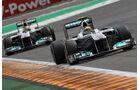 Rosberg & Schumacher Rennen GP Belgien 2011