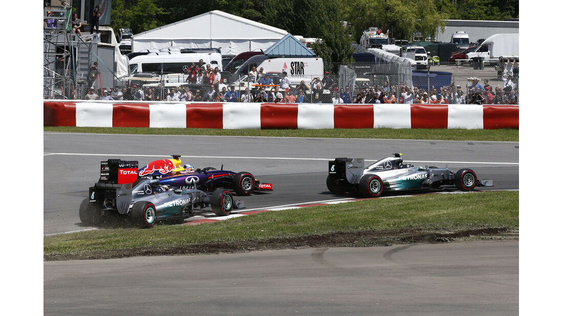 Rosberg, Vettel & Hamilton - GP Kanada 2014