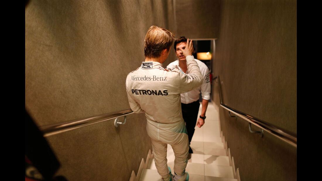 Rosberg - Wolff - Mercedes - GP Abu Dhabi 2016 - Formel 1